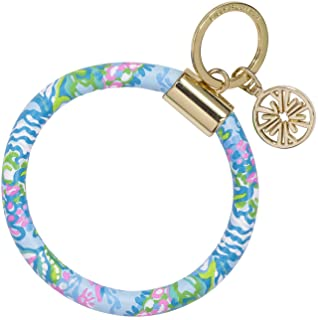 Lilly Pulitzer Leatherette Round Key Ring Chain