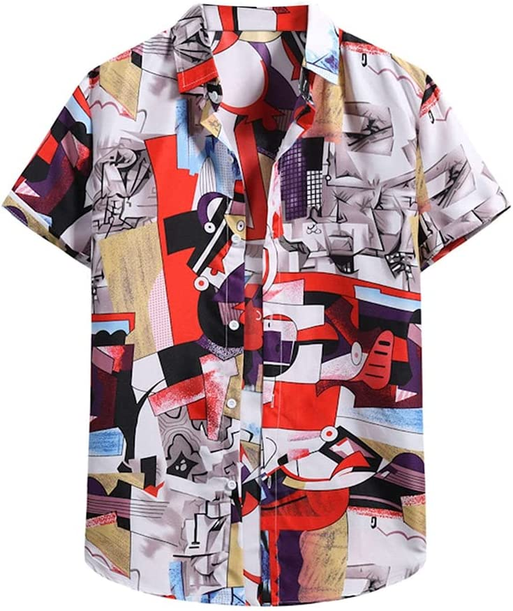 UXZDX Max 41% OFF Men's Hawaiian NEW before selling ☆ Shirt Floral Beach Summer Streetwear Print
