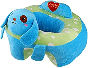 Fengbingl-bb Baby Support Sofa Baby Support Seat Sofa Plush Chair Colorful Infant Learn Sitting Soft Chair Pillow Safety Eating Chair Cartoon Dog Shaped Children s Plush Toy Baby Sitting Chair