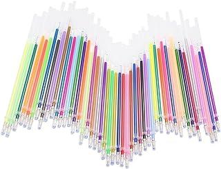 48subrayadores de colores de Leisial,bolígrafos de tinta de gel para colorear y hacer manualidades con purpurina, estilos neón y pastel