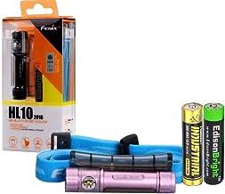 Fenix HL10 70 Lumen LED removable light Headlamp with Three EdisonBright AAA Alkaline batteries … (Lilac)