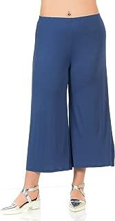 Women's Wide Leg Crop Culottes Plus Size