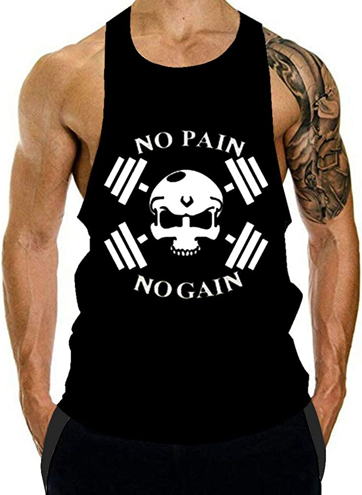 GZXISI Men's Gym Bodybuilding Stringer Branded goods Top We OFFer at cheap prices Workout C Tank Muscle