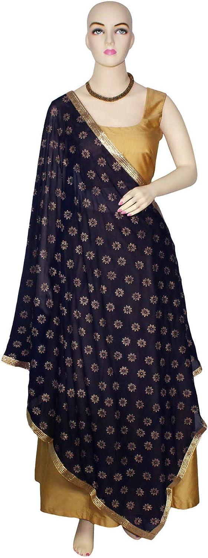 Dupatta Scarf Chunni Semi Chiffon Floral Block Print Stole Hijab Summer Fashion Sarong Party Casual Wear Veil Gift for Woman