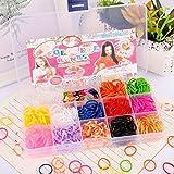 Colorido telar bandas Twister caso Kit creativo arco iris bandas de goma, pulsera de la amistad haciendo kit con marcos web y ganchos DIY artesanía pulsera tejer para fiesta