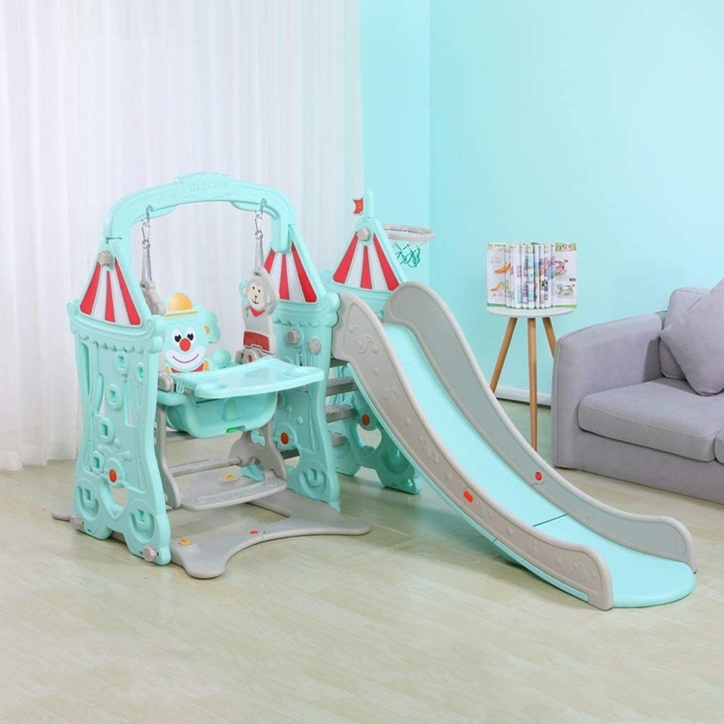 WUTONG Indoor Slides and Swing Set for Toddlers, Multifuncional