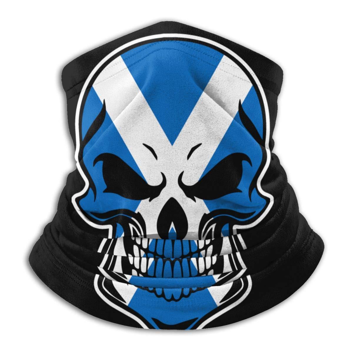 XXWKer Scotland Flag Skull-1 Micro Fiber Seamless Windproof Bandana /& Face Mask /& Neck Warmer Gaiter Shield for Unisex