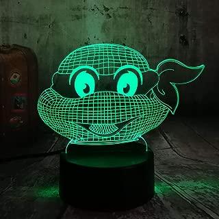 Figure Teenage Mutant Ninja Turtles Modern Atmosphere 3D Visual Lamp Night Light Led Bedroom Wedding Decoration Gift (Ninja Turtles)