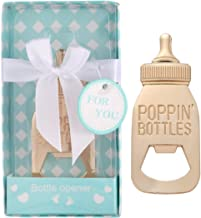 Yuokwer 12pcs Bottle Opener Baby Shower Favor for Guest, Gold Feeding Bottle Opener Wedding Favors Baby Shower Giveaways Gift Guest, Party Favors Gift & Party Decoration Supplies Blue