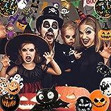 Halloween Deko, 42 Stück Luftballons Halloween Horror Deko Set, inklusive Fledermaus, Spinne, Kürbis Deko, Happy Halloween Banner, für Garten Bar Wohnzimmer Horror Party - 5