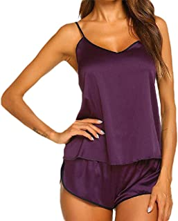 GAGA Women Sleepwear Satin Cami Shorts Set Nightwears