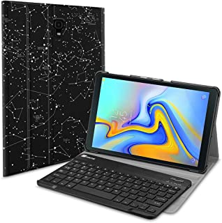 Fintie Keyboard Case for Samsung Galaxy Tab A 10.5 2018 Model SM-T590/T595/T597, Slim Shell Lightweight Stand Cover with Detachable Wireless Bluetooth Keyboard, Constellation