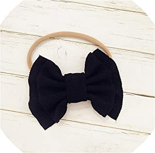Baby Headband Baby Girl Headbands for Girls Turban Baby Haarbandjes Baby Bows Headband Nylon Bow Hair Accessories,Baby Headband Black