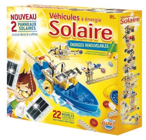 Buki - 7345 - Jeu Educatif - Science et Nature - Véhicules à Energie Solaire - 2 Panneaux Solaires