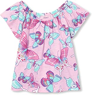 The Children s Place Baby Girls Novelty Printed Matchable Flutter Sleeve  Tank Top f922d0e14