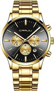 Men's Multifunctional Chronograph Wristwatches,Stainsteel Steel Band Fashion Quartzuartz...