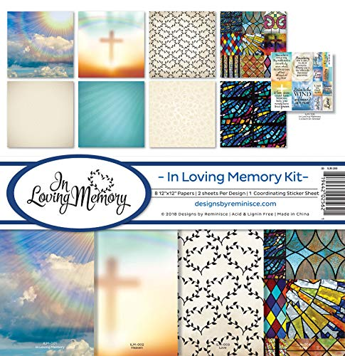 Reminisce (REMBC) In Loving Memory Scrapbook Collection Kit, Multicolor