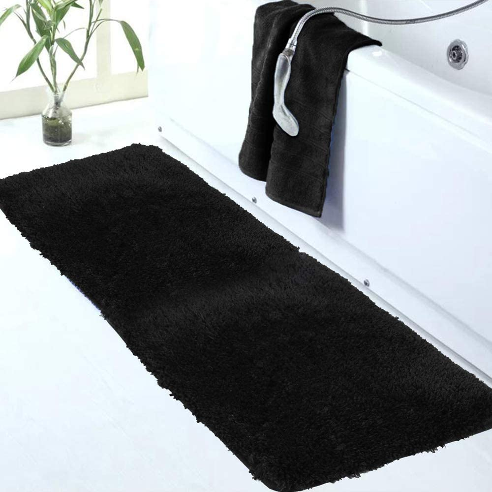 Walensee Large Challenge the lowest price of Japan Bathroom Rug 24 x 60 Seattle Mall Abso Extra and Black Soft