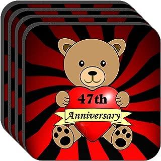 Happy 47th Anniversary Set of 4 Coasters