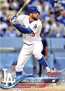 2018 Topps Opening Day #167 Chris Taylor Los Angeles Dodgers Baseball Card