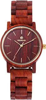 Andoer Women's Wooden Watch Wood Watch Analog Quartz Ultra Light Business Casual Watches Wristwatch His and Hers Lovers Set