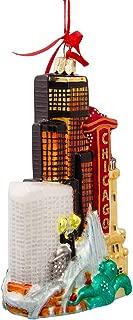 Kurt Adler Chicago Glass Cityscape, Christmas Ornament