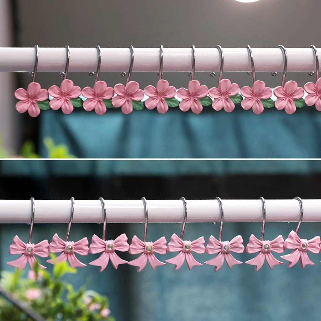 Max 76% OFF JOYGOOD OFFicial mail order Shower Curtain Hooks Rust Light Bow-Shaped Luxury Proof