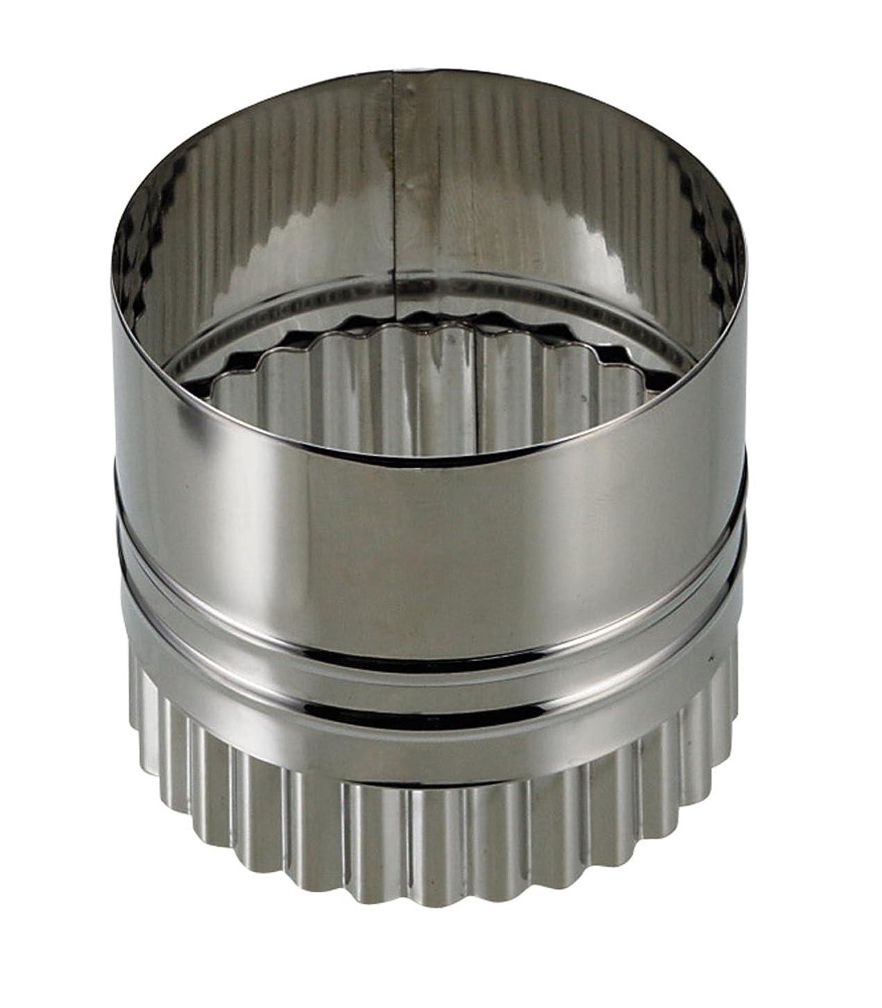 レスリング能力将来のパール金属 EEスイーツ ステンレス製 ウェーブラウンド両用 抜き型 6cm D-4894