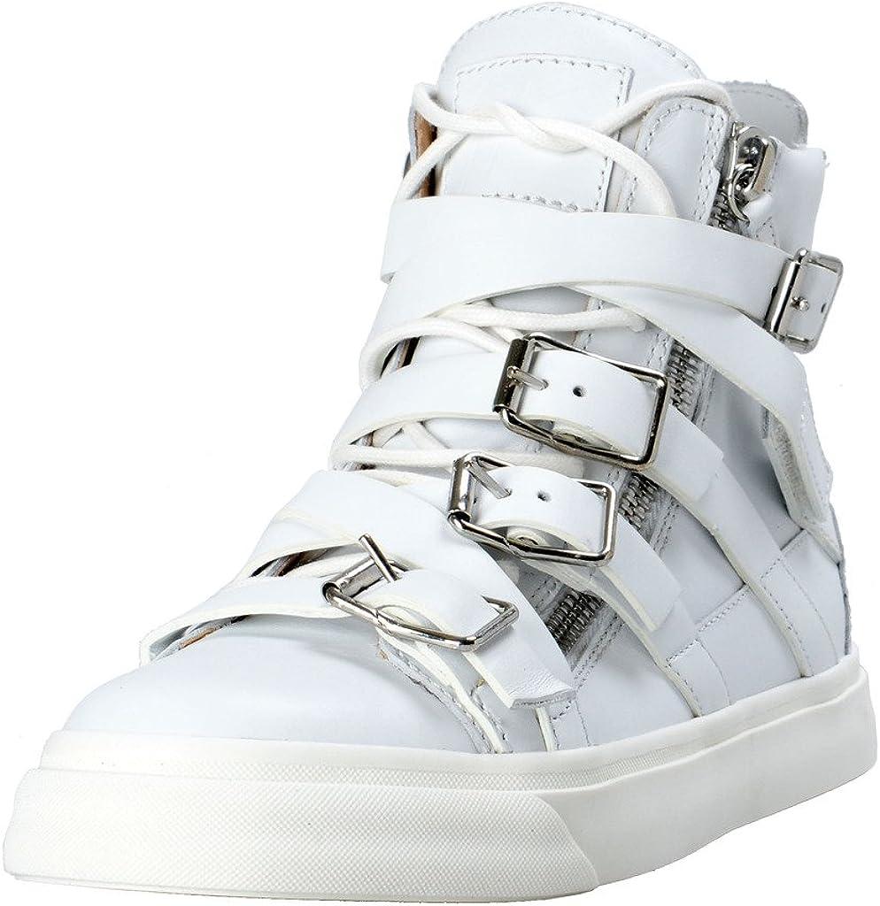 Giuseppe Zanotti Women's White Leather Fashion Sneakers Shoes