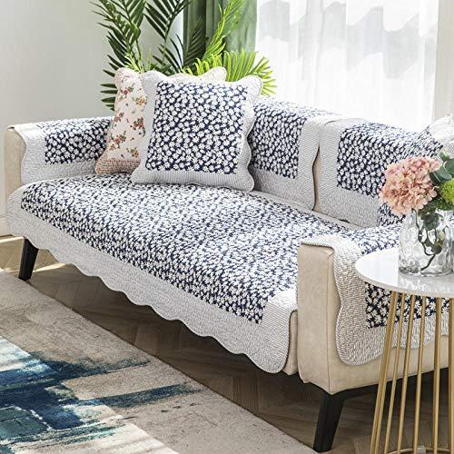 Suuki Couchgarnituren,Bezug für Ecksofa/L Form Couch,Sofa im ländlichen Stil Sofa Protector,Sofabezüge im Landhausstil,Couch-Schonbezug mit Blumenmuster,Home Decor Throw Mats-C_90 * 240 cm