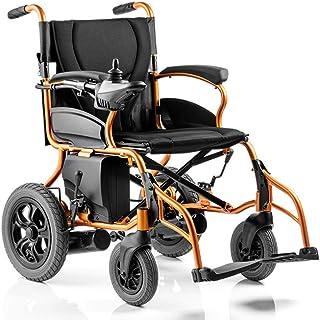 Inicio Accesorios Silla de ruedas eléctrica para personas mayores discapacitadas Sillas de ruedas eléctricas motorizadas plegables Rueda trasera antideslizante de 12 pulgadas de gran tamaño para co