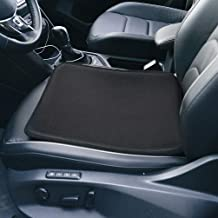 TANYOO Car Seat Cushion Memory Foam Car Seat Pad, Coccyx Seat Cushions for Cars with Super Breathable, Chair Cushions for Car Automobiles Tailbone Pain, Black【17x17 Inch, 1 PC】