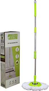 Green Direct Mop Stick Spin Mop Deluxe Bucket Cleaning System (Mop Stick and Microfiber Mop Head Included)