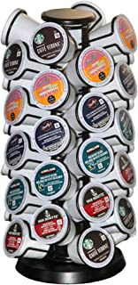 K-40 Cup Carousel,Coffee Pod Holder Carousel Holds 40 Single Cup Coffee Pods in Matte Black (Capacity of 40 Pods)