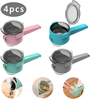 Bag Clips for Food, 4PCS Food Sealing Clips, Kitchen Chip Bag Clips for Food Storage, Best Kitchen Food Storage and Organization