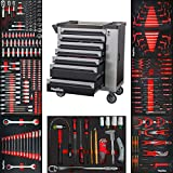 Mephisto XXL Werkzeugwagen Werkstattwagen mit 7 Schubladen davon 7 mit Werkzeug wie...