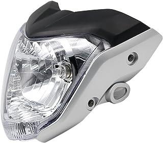 Noir Tmand Tete de Fourche Plaque Phare de Moto Enduro Universel pour