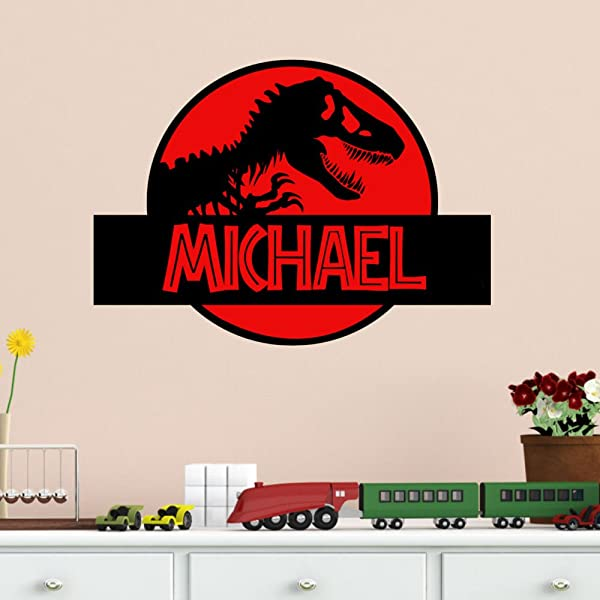 Dinosaur Wall Decal Jurassic Park Personalized Vinyl Wall Decal