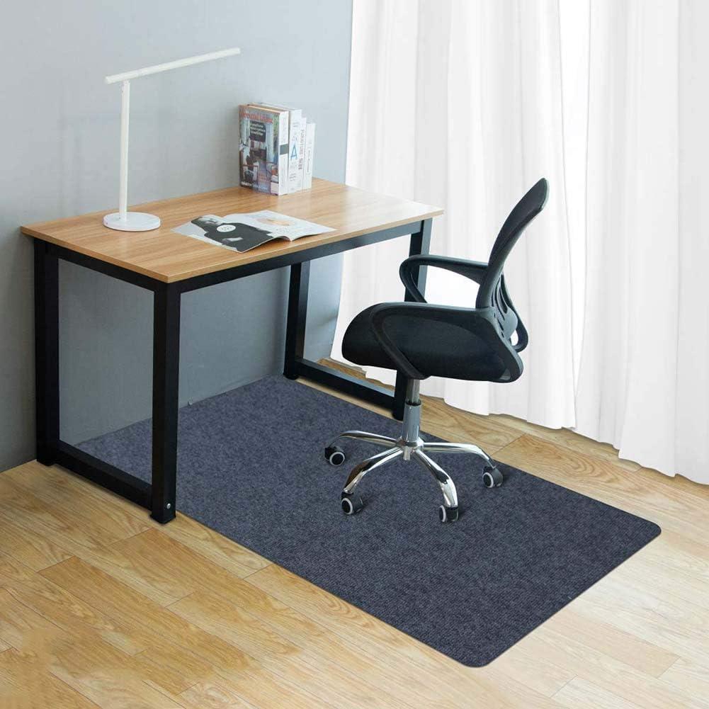 Schreibtischunterlage gro/ße Bodenschutzmatte f/ür Hartholzb/öden Flor 10 mm dick kratzfest reibungslos bewegen Zinn Mehrzweck-Teppich//Rollstuhl-Matte