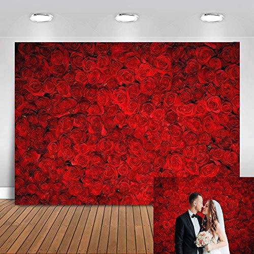Avezano 1.8*1.2m Telón de fondo de flores de boda Fondo de fotografía...