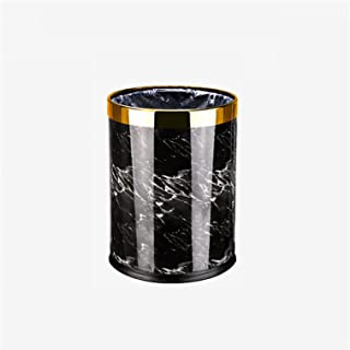 Commercial Waste Basket 15L Large-Capacity Trash Can Office Round No Cover Double-Layer Trash Can Waste Bin Household Livi...