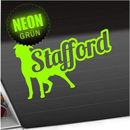 Auto Aufkleber Sticker 25x21 Cm American Stafford Mit Spruch Verschiedenen Farben Weiß Garten