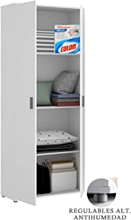 HABITMOBEL Mueble Multiuso Blanco DUPEN, Medidas 190 x 61 x 35 cm