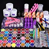 Cooserry 115 In 1 Acrylic Nail Kit - 48 Colors of Glitter Acrylic Powder And Liquid Set for Nails Professional Set - 5 Pcs Acrylic Nail Brush And Manicure Tools For Acrylic Nail Starter
