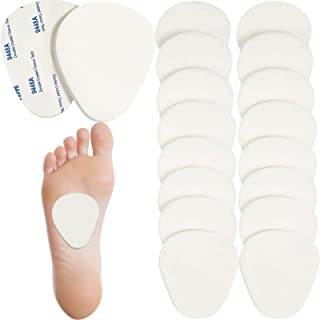 20 قطعه پد متتارسال فلت پا قرار دادن پد بالشتک بالش پا برای تسکین درد پا کف پا و کف چسب کف پا مرد و زن 1/4 اینچ ضخیم (سفید)