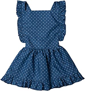 Toddler Tutu Dress Infant Sleeveless Vest Skirt Baby Backless Cute Romper for Girl Ruffle Skirt, Ages for 6Mos-5T