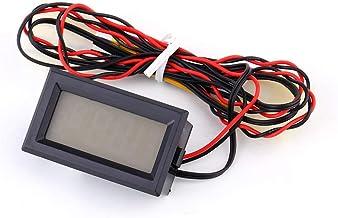 TS-805 Termómetro de Temperatura Digital LCD de Doble Pantalla, termómetro Digital HD Temperatura Pantalla LCD Medidor de Temperatura 0 ° C- 90 ° C C/F Sonda Azul