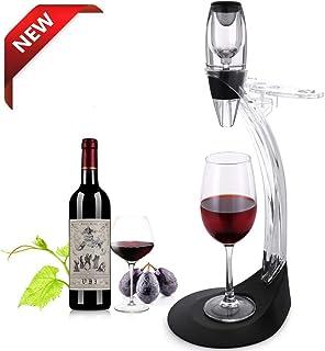 TOMORAL Set de Regalo de aireador de Vino Deluxe – Kit de Accesorios de Vino con decantador de aireador de Vino, Torre de Almacenamiento, Amantes del Vino y entusiastas (Black)