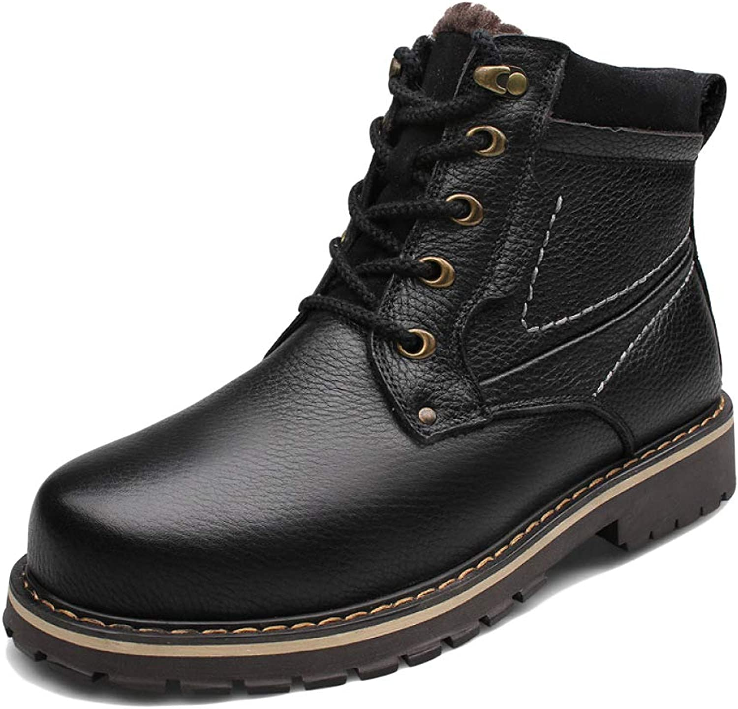 WWJDXZ Boots Men's Tooling shoes High Help Martin Boots Plus Velvet Thicken Desert Boots Non-Slip Wear Walking Boots Comfortable Motorcycle Boots