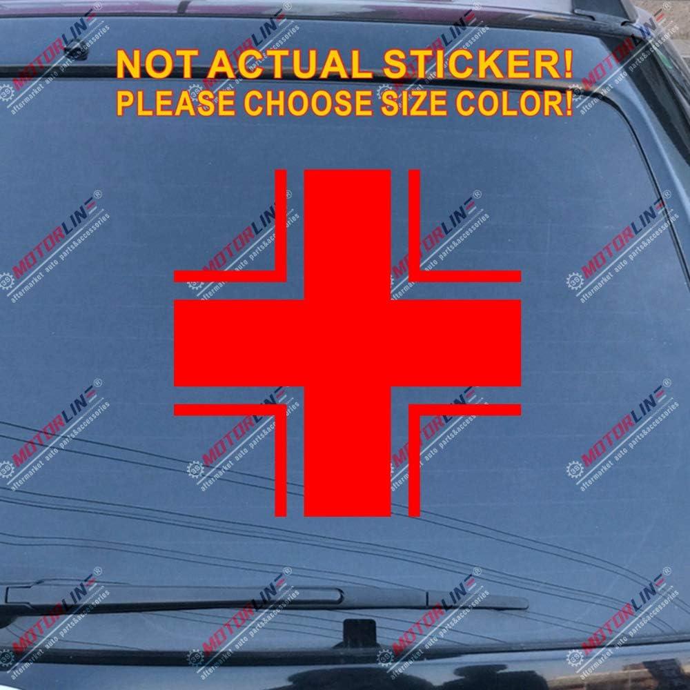 3S MOTORLINE 2X White 4 Iron Cross Bundeswehr Insignia Decal Sticker German Army Car Vinyl Distressed